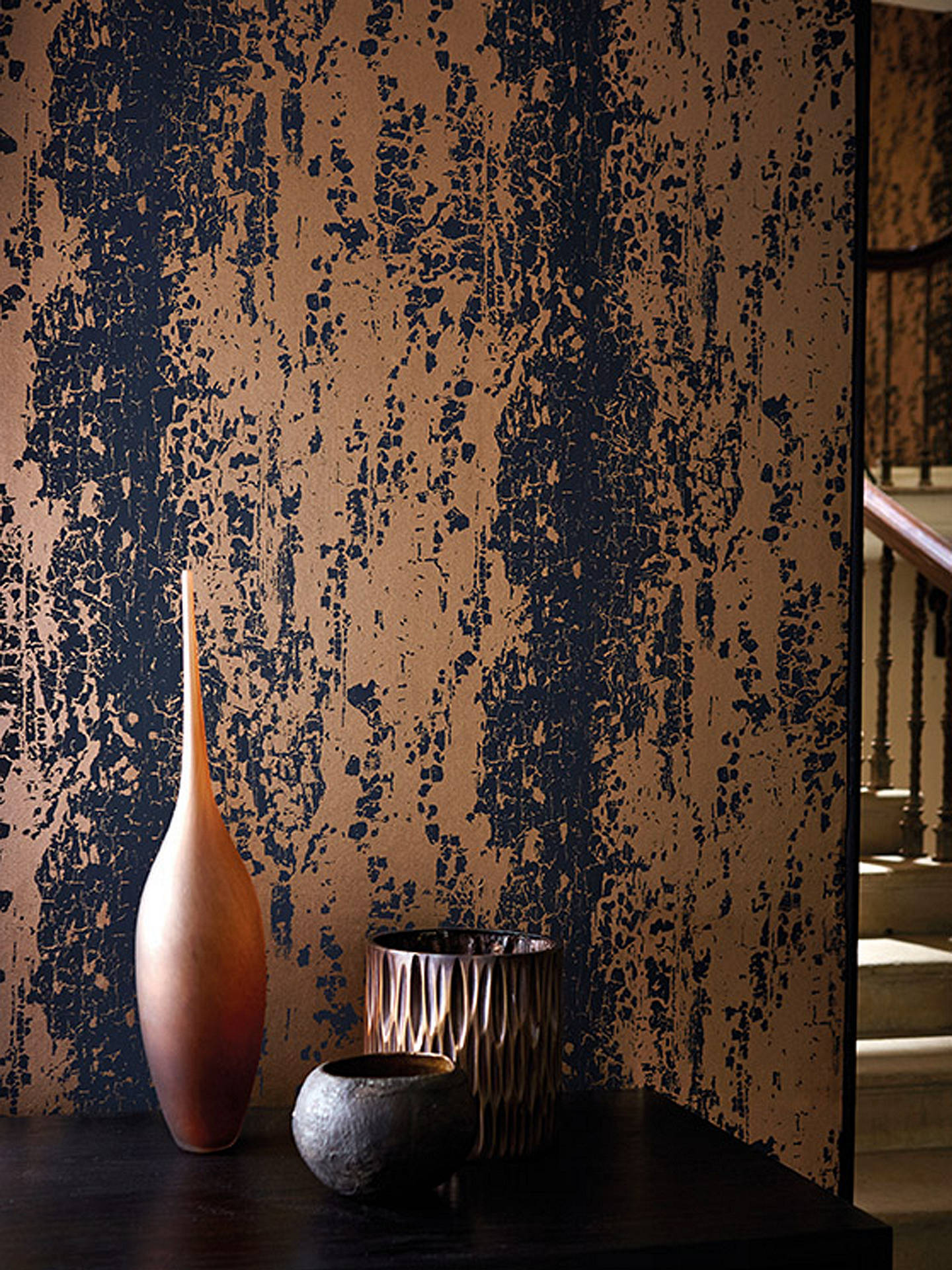 Harlequin Eglomise Paste The Wall Wallpaper Lapis 110623 Online At Johnlewis