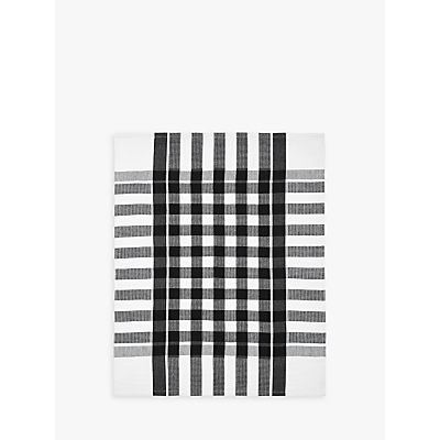 John Lewis The Basics Tea Towels, Set of 2, Black