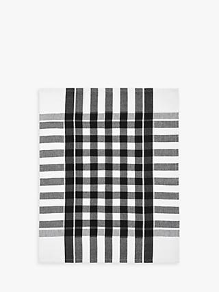 John Lewis & Partners The Basics Tea Towels, Set of 2, Black