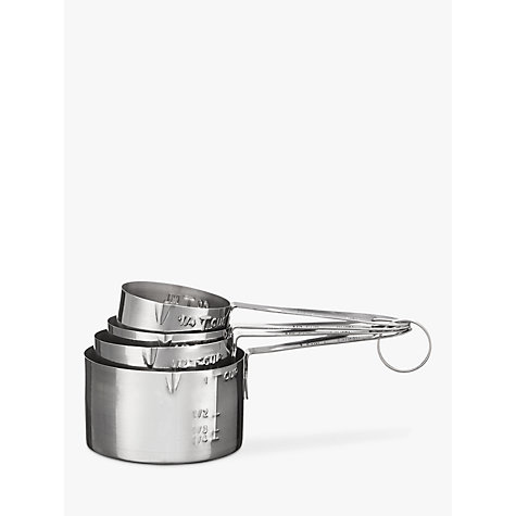 Buy John Lewis Metal Measuring Cups, Set of 4 Online at johnlewis.com