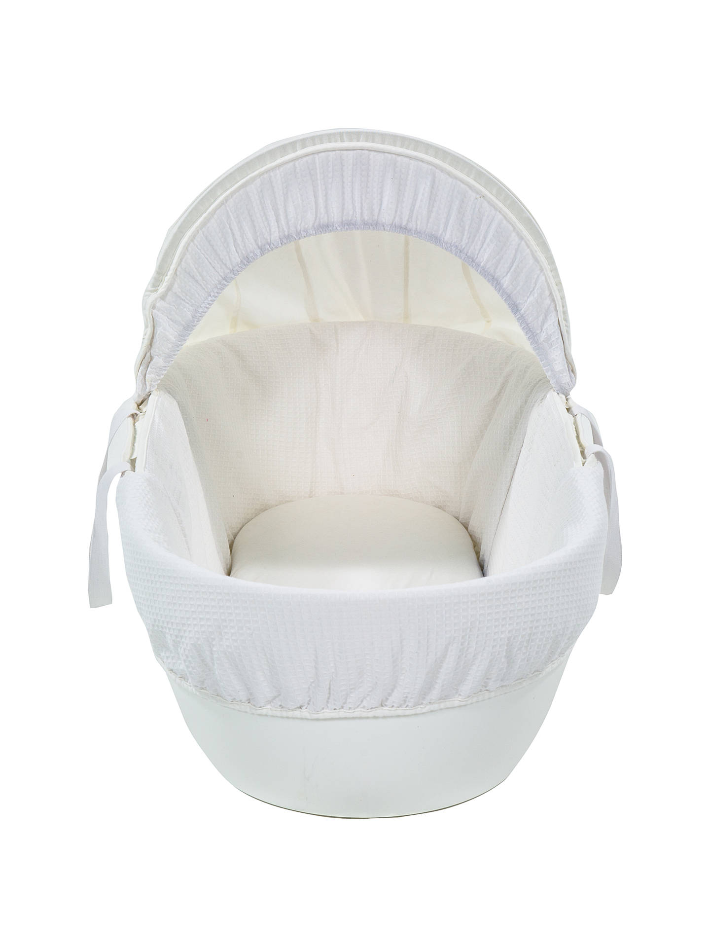 BuyShnuggle Waffle Moses Basket, White Online at johnlewis.com