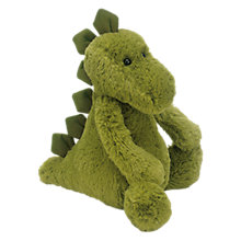 Buy Jellycat Medium Bashful Dinosaur Soft Toy, Green Online at johnlewis.com