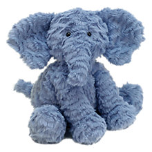Buy Jellycat Fuddlewuddle Elephant Soft Toy, Medium, Blue Online at johnlewis.com