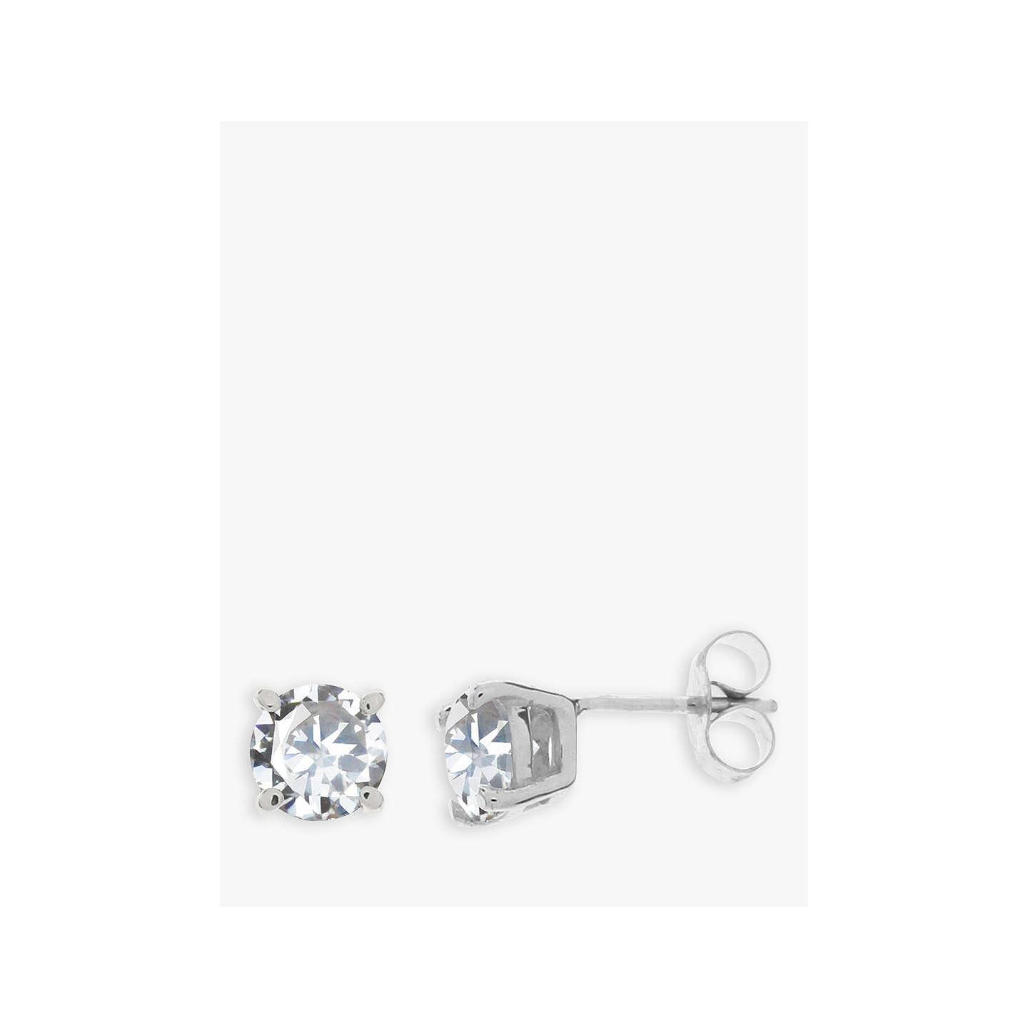 earrings p small cubic silver zirconia flower stud