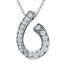 Buy Jools by Jenny Brown Rhodium Plated Silver Cubic Zirconia Hook Pendant Online at johnlewis.com