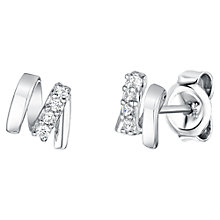 Buy Jools by Jenny Brown Rhodium Plated Silver Cubic Zirconia M Shape Earrings Online at johnlewis.com