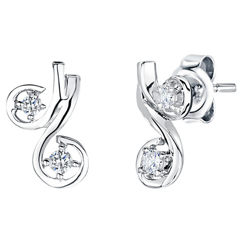 Buy Jools by Jenny Brown Cubic Zirconia Cherry Stud Earrings, Silver Online at johnlewis.com