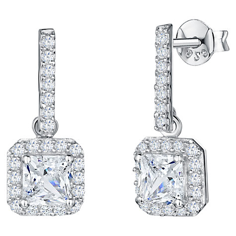 Buy Jools by Jenny Brown Long Bar Square Cubic Zirconia Drop Earrings Online at johnlewis.com