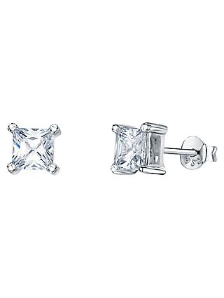 Jools by Jenny Brown Cubic Zirconia Stud Earrings, Silver