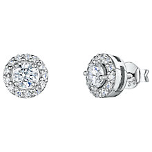 Buy Jools by Jenny Brown Pavé Surround Round Cubic Zirconia Stud Earrings Online at johnlewis.com