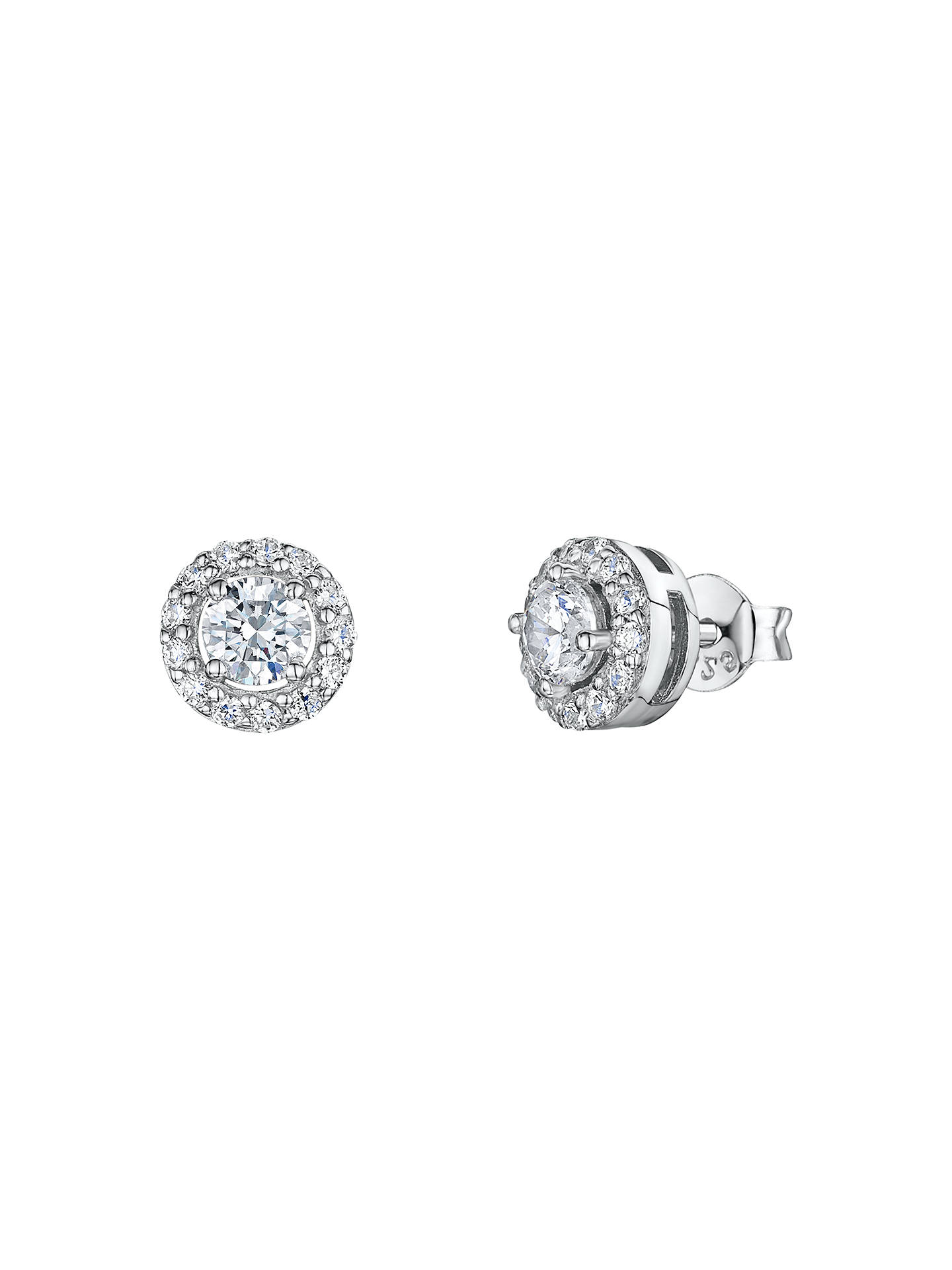 12c568141 Buy Jools by Jenny Brown Pavé Surround Round Cubic Zirconia Stud Earrings,  Clear Online at