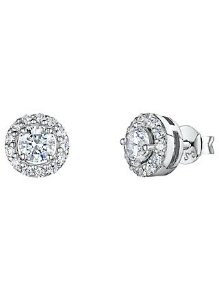 Jools by Jenny Brown Pavé Surround Round Cubic Zirconia Stud Earrings