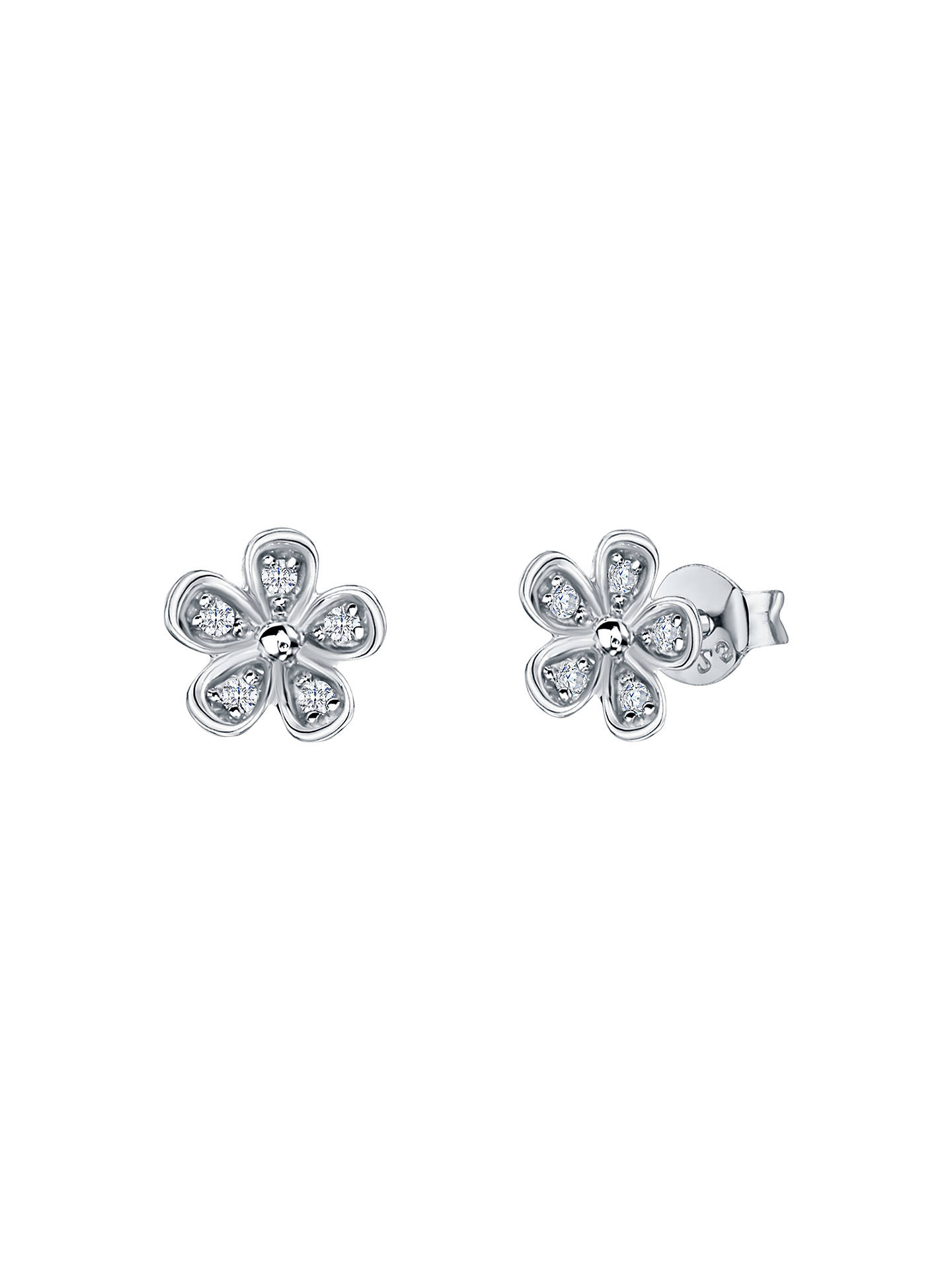 e83877e90 Buy Jools by Jenny Brown Five Petal Pavé Stud Earrings Online at  johnlewis.com