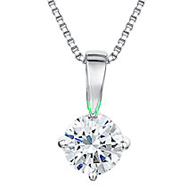 Buy Jools by Jenny Brown Round 0.5cm Solitaire Cubic Zirconia 4 Claw Set Pendant Necklace Online at johnlewis.com