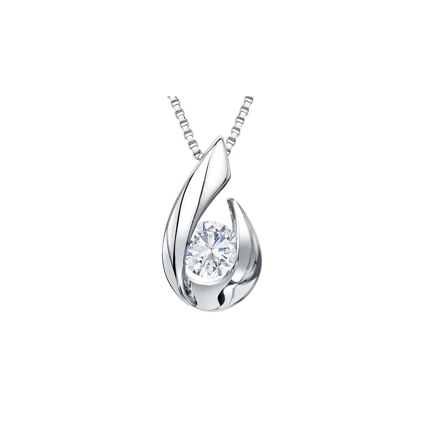 Jools by jenny brown silver hook cubic zirconia solitaire pendant buyjools by jenny brown silver hook cubic zirconia solitaire pendant necklace silver online at johnlewis aloadofball Images