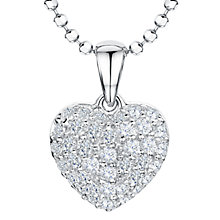 Buy Jools by Jenny Brown Rhodium Plated Silver Cubic Zirconia Heart Pendant Online at johnlewis.com
