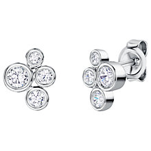 Buy Jools by Jenny Brown Rhodium Plated Silver Cubic Zirconia Bubbles Drop Earrings Online at johnlewis.com