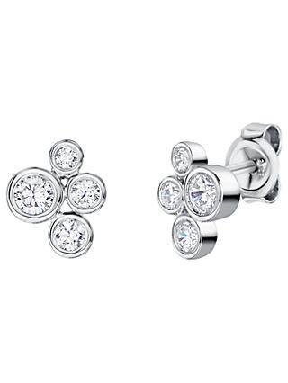 Jools by Jenny Brown Rhodium Plated Silver Cubic Zirconia Bubbles Drop Earrings