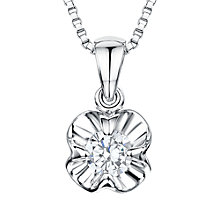 Buy Jools by Jenny Brown Rhodium Plated Silver Cubic Zirconia Flower Pendant Online at johnlewis.com