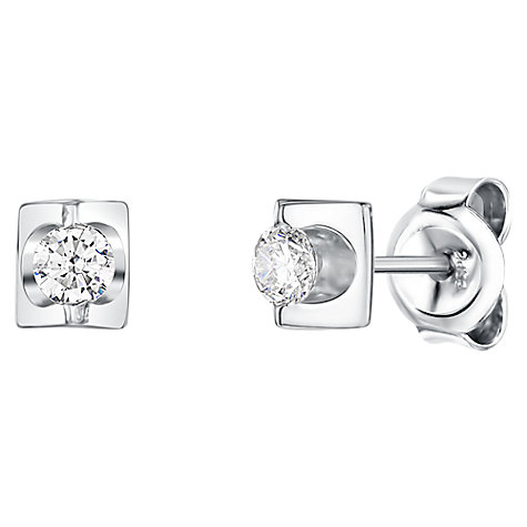 Buy Jools by Jenny Brown Cubic Zirconia Stud Earrings, Silver Online at johnlewis.com