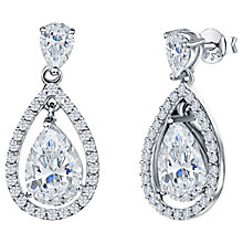 Buy Jools by Jenny Brown Pavé Surround Tear Drop Earrings Online at johnlewis.com