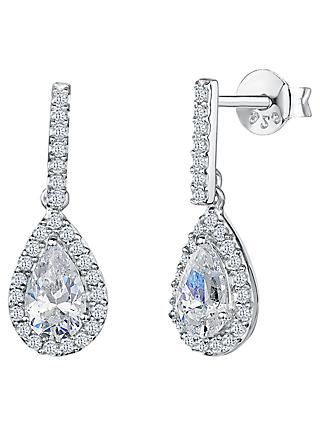 Jools by Jenny Brown Pavé Set Bar and Tear Drop Earrings