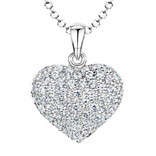 Buy Jools by Jenny Brown Rhodium Plated Silver Cubic Zirconia Bubbly Heart Pendant Online at johnlewis.com