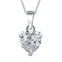 Buy Jools by Jenny Brown Small Heart Cubic Zirconia Pendant Necklace, Silver Online at johnlewis.com
