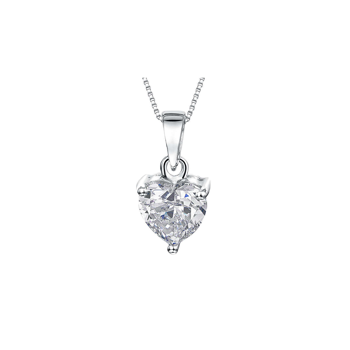Jools by jenny brown small heart cubic zirconia pendant necklace buyjools by jenny brown small heart cubic zirconia pendant necklace silver online at johnlewis aloadofball Images