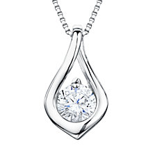 Buy Jools by Jenny Brown Rhodium Plated Silver Cubic Zirconia Small Twisted Drop Pendant Online at johnlewis.com
