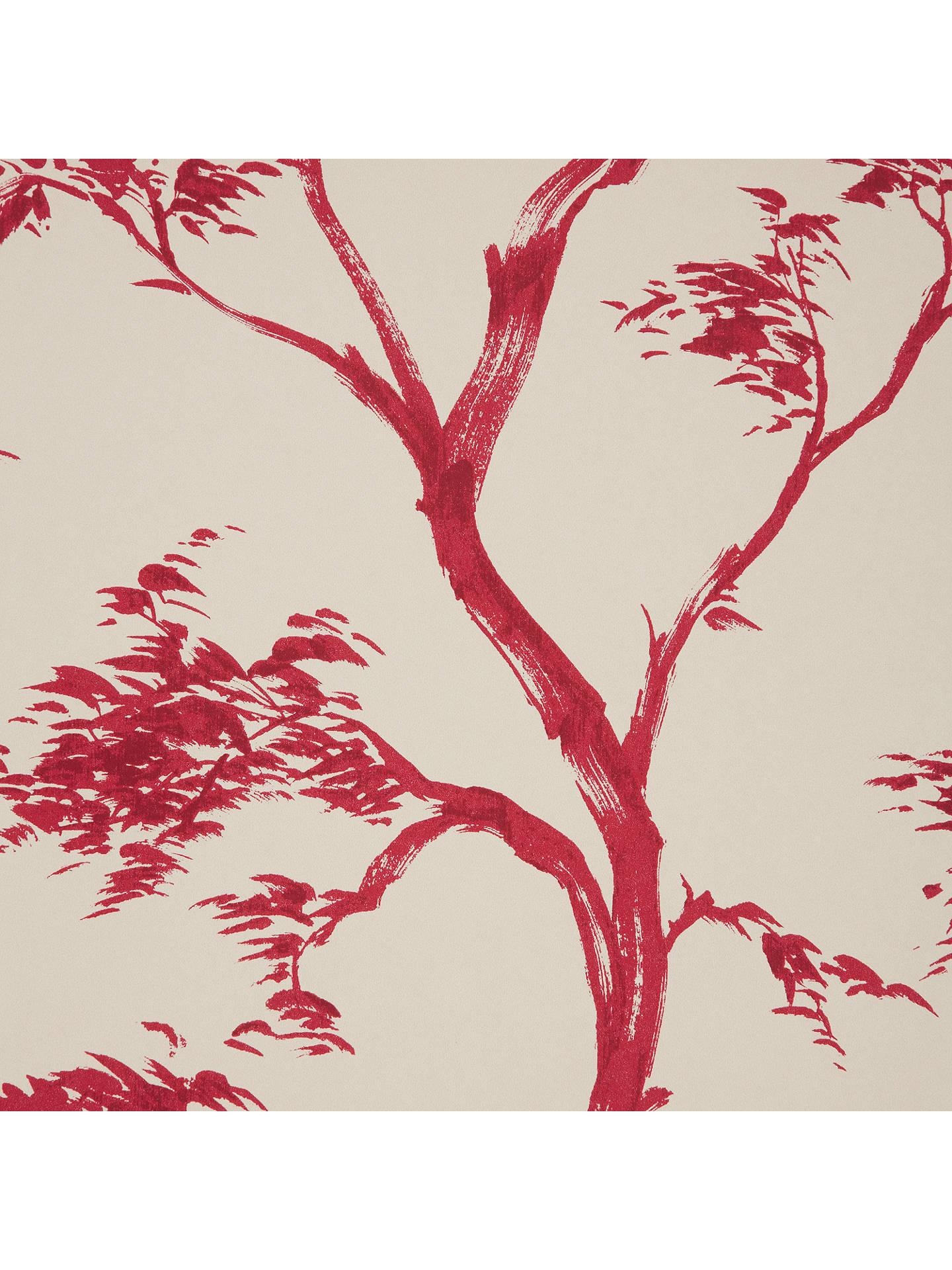 John Lewis Partners Japanese Tree Wallpaper Red