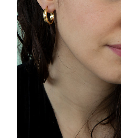 Buy IBB 9ct Yellow Gold Large Creole Hoop Earrings, Gold Online at johnlewis.com