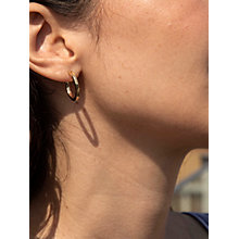 Buy IBB 9ct Yellow Gold Creole Hoop Medium Earrings, Gold Online at johnlewis.com