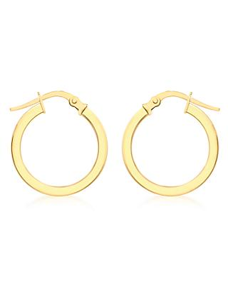 IBB 9ct Yellow Gold Creole Hoop Medium Earrings, Gold