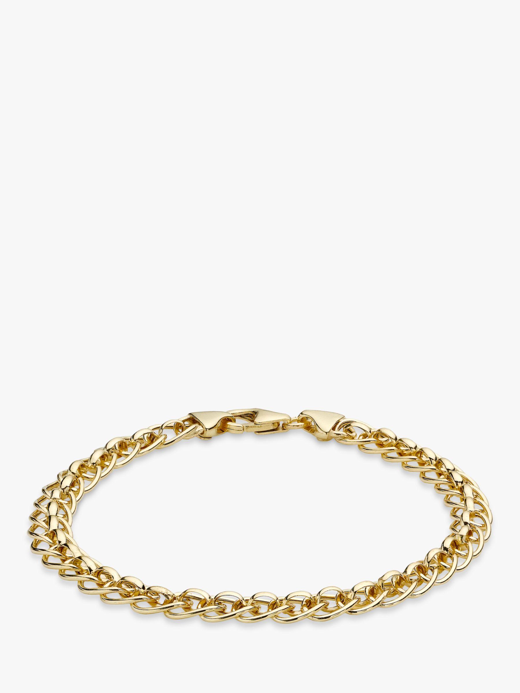 a63d1d46de589 IBB 9ct Yellow Gold Rollerball Bracelet, Gold