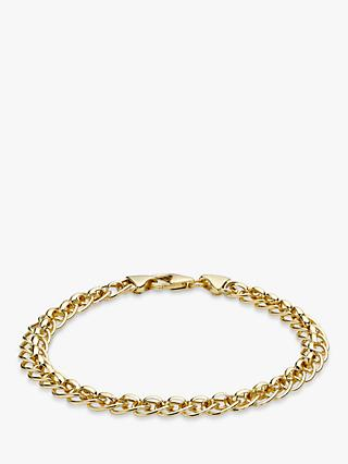 IBB 9ct Yellow Gold Rollerball Bracelet, Gold