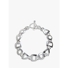 Buy Andea Sterling Silver Assorted Cut Out Shapes Bracelet Online at johnlewis.com