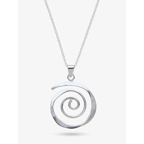 Buy Andea Sterling Silver Sculptured Spiral Pendant Necklace Online at johnlewis.com