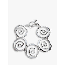 Buy Andea Sterling Silver Sculptured Spirals Bracelet Online at johnlewis.com