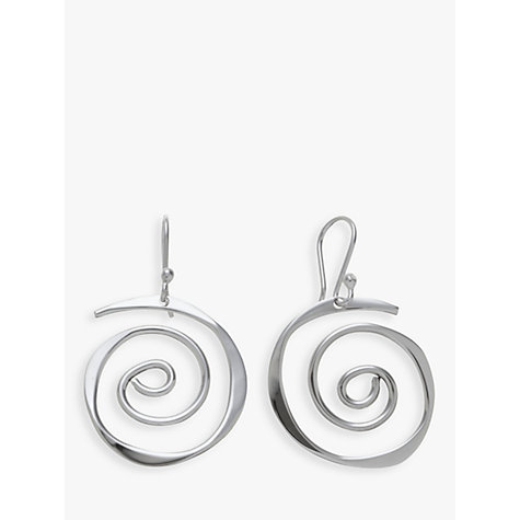 Buy Andea Sterling Silver Sculptured Spiral Drop Earrings Online at johnlewis.com