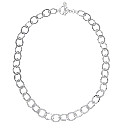 Andea Sterling Silver Oval Links Necklace