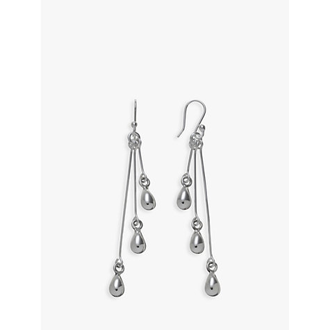 Buy Andea Sterling Silver Three Tears Drop Earrings Online at johnlewis.com