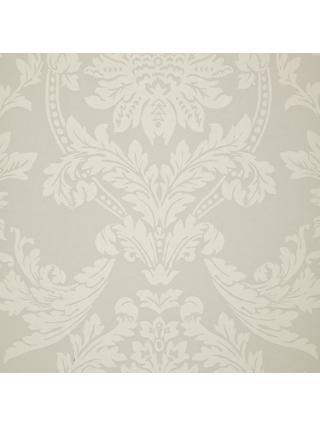John Lewis & Partners Ornamental Damask Wallpaper, Smoke