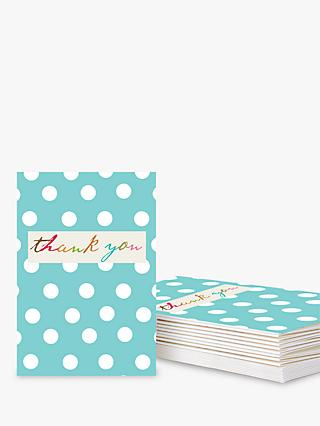 Notecards invitations john lewis caroline gardner spotted thank you notecards blue pack of 10 stopboris Image collections