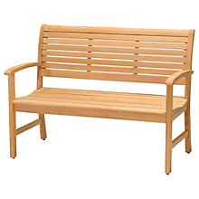 Buy John Lewis Longstock 2-Seater Teak Garden Bench Online at johnlewis.com
