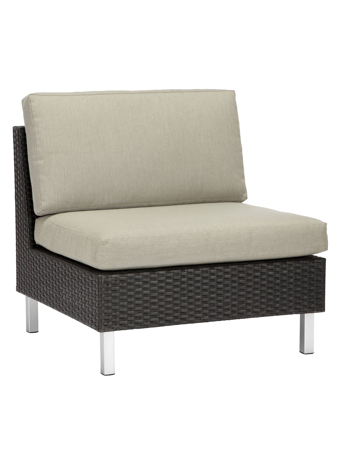 Buyjohn lewis partners madrid modular middle unit outdoor chair brown online at johnlewis