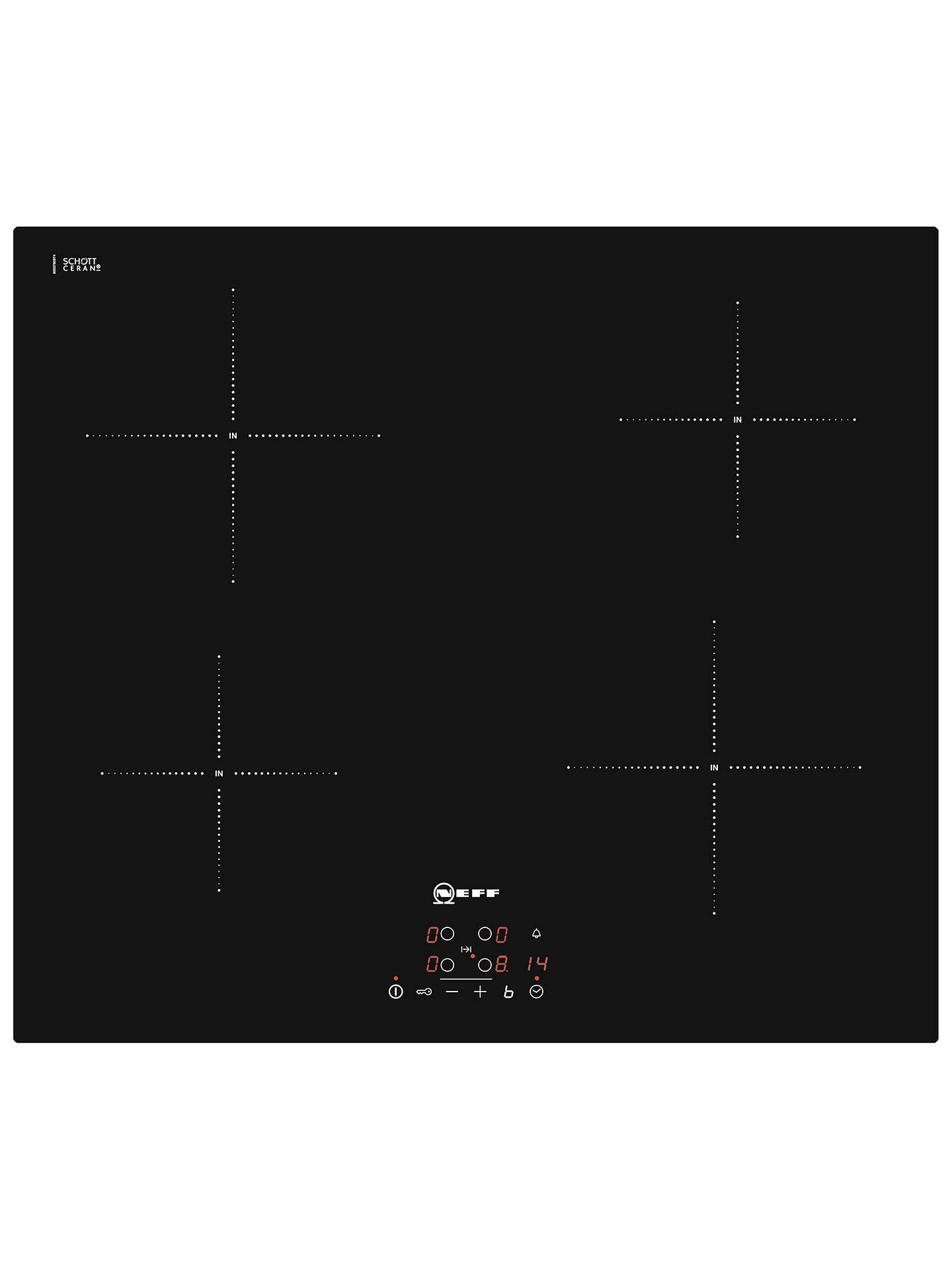 neff t40b31x2gb induction hob black at john lewis partners. Black Bedroom Furniture Sets. Home Design Ideas