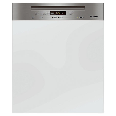 Buy Miele G6100 Sci Semi integrated Dishwasher, Clean Steel Online at johnlewis.com
