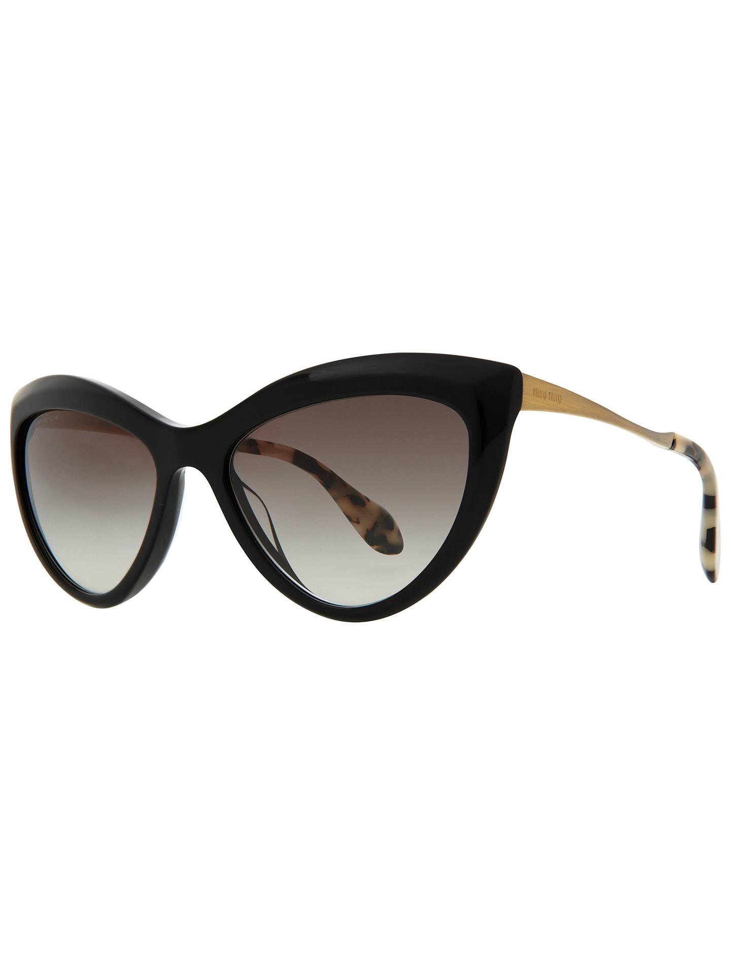 a1525318fd56 Miu Miu MU08OS Retro Style Cat s Eye Sunglasses at John Lewis   Partners