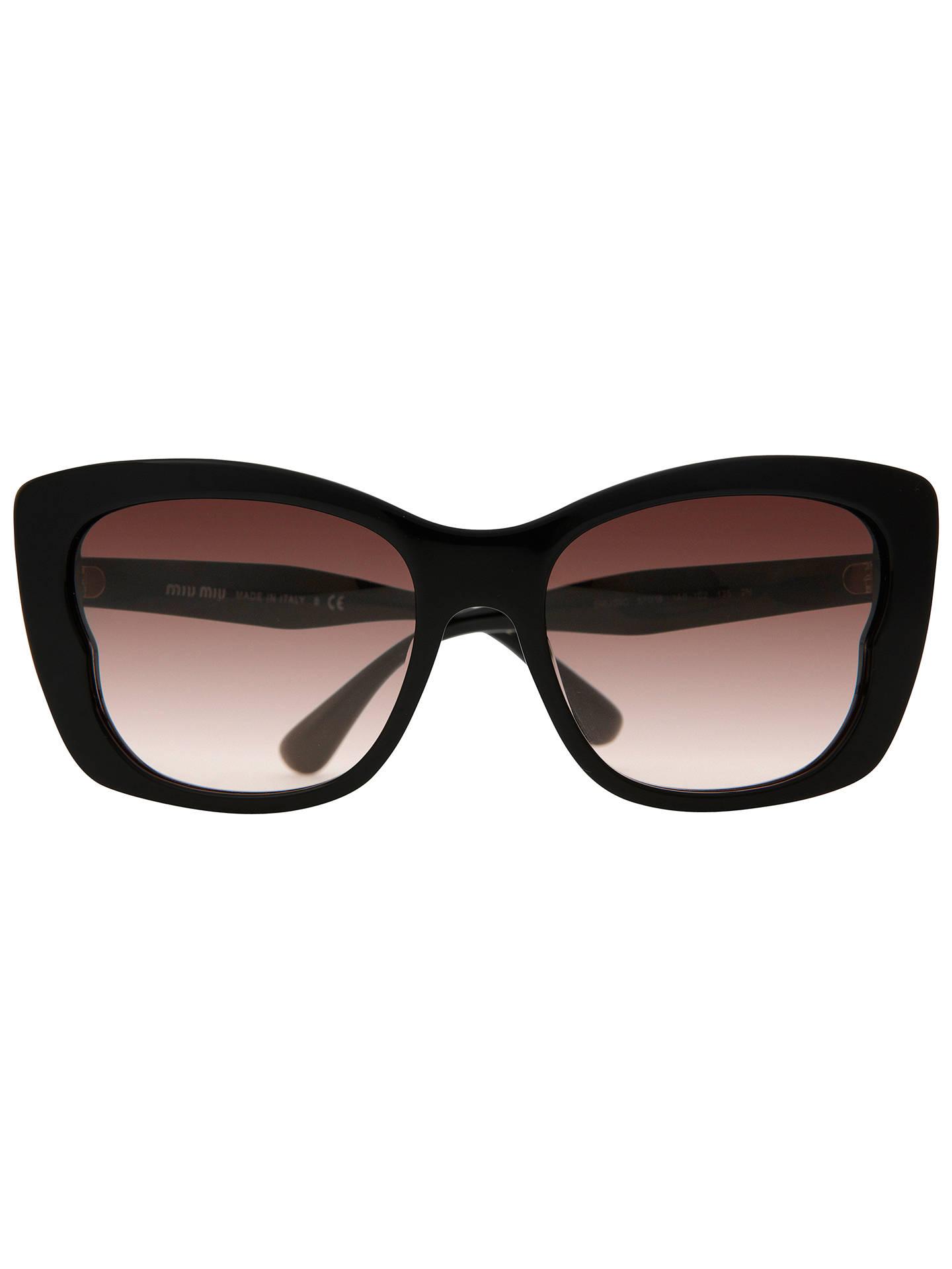 92f8667f8df3 ... Buy Miu Miu MU030S 1AB1E2 Oversize Square Cat s Eye Acetate Frame  Sunglasses